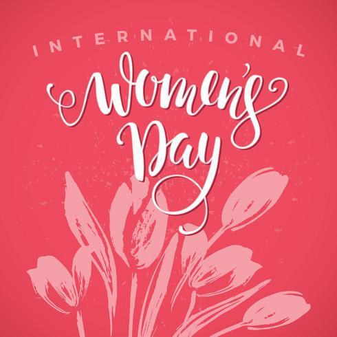 Giornata internazionale della donna. Progettazione di scritte per banner, volantini, vettore