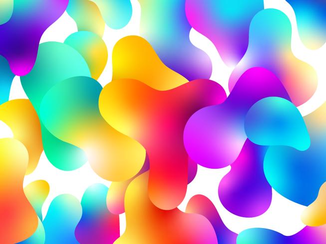 Disegno di sfondo a colori liquidi vettore