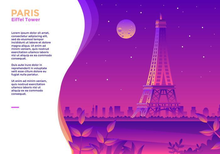 Vettore di Parigi Torre Eiffel