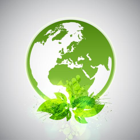 mondo eco verde vettore