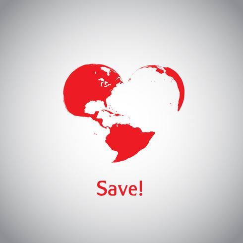 The Heart World - Risparmia! vettore