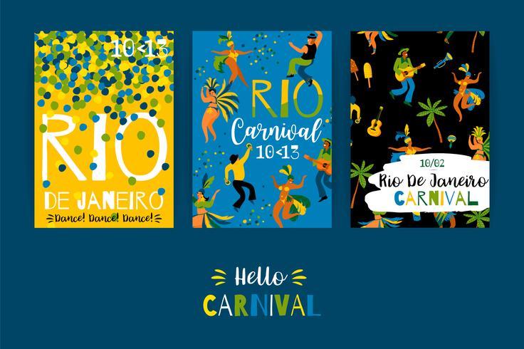 Carnevale del Brasile. Modelli di vettore per il concetto di carnevale e altri utenti.