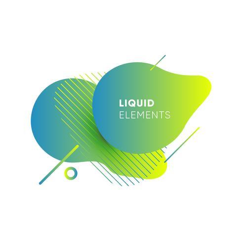 Bandiere astratte di gradiente con le forme liquide scorrenti vettore