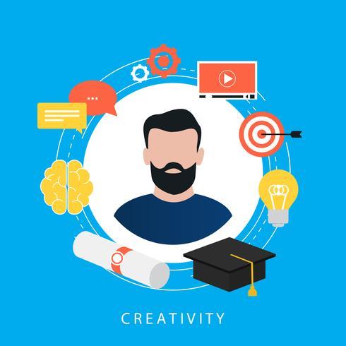 Istruzione, e-learning, corsi online, tutorial, lezioni online, video di formazione, progettazione piatta di ilustration vettoriale di gradi universitari per banner e app web