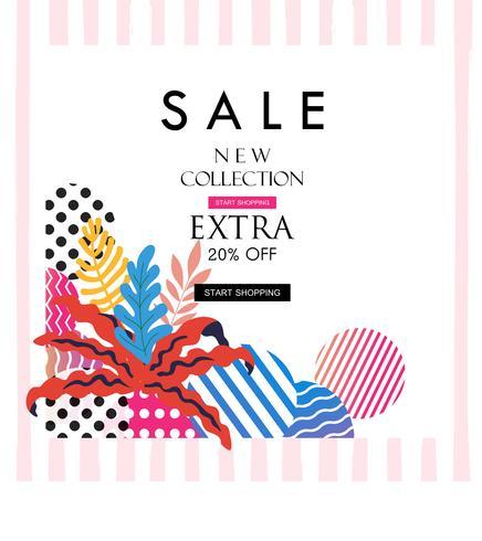 Manifesto di vendita per lo shopping, sconto, vendita al dettaglio, illustrazione di vettore di promozione del prodotto