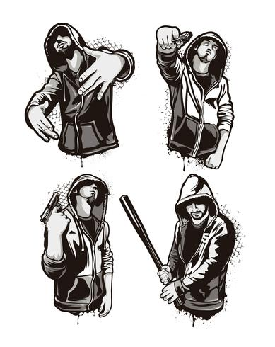 guerrieri del ghetto vettore