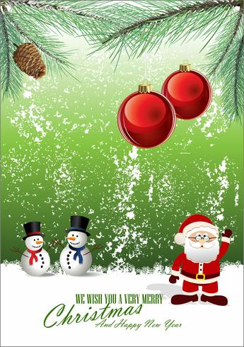 Sfondo di Natale allegro vettore