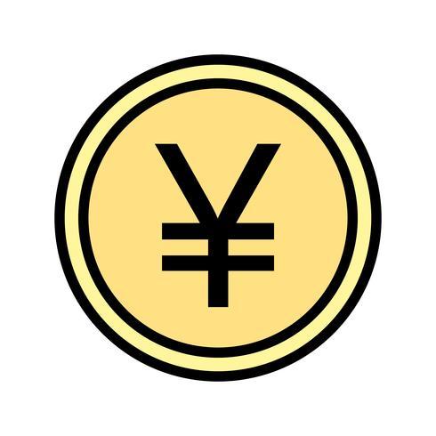 icona di vettore di yen