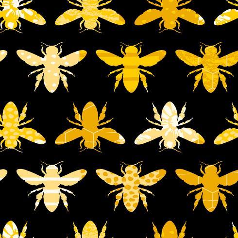 Modello geometrico senza cuciture con ape. vettore