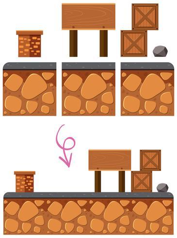Puzzle Game Element su sfondo bianco vettore