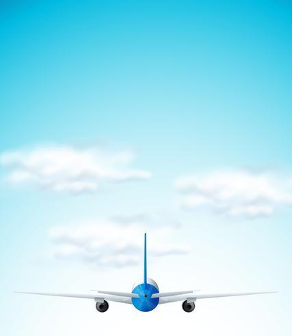 Aeroplano che vola sul cielo vettore