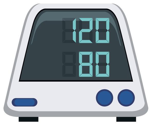 Monitor della pressione sanguigna su sfondo bianco vettore