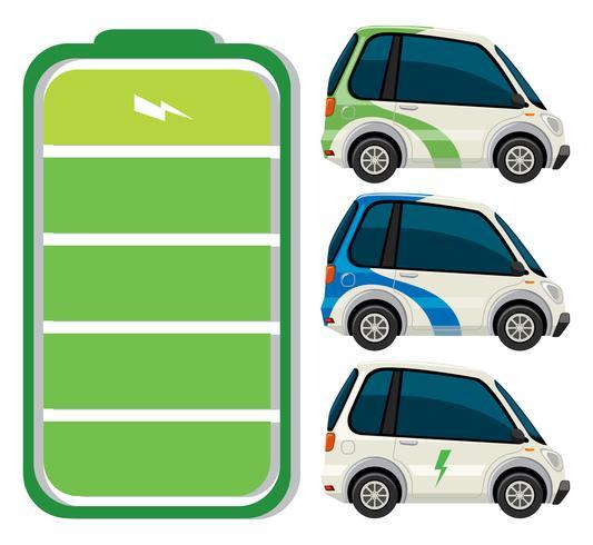 Set di auto elettrica vettore