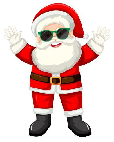 Babbo Natale felice con gli occhiali da sole vettore