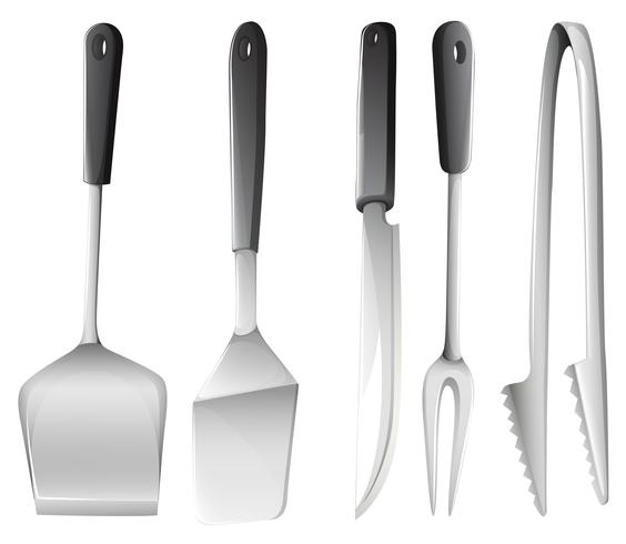 Diversi utensili da cucina vettore