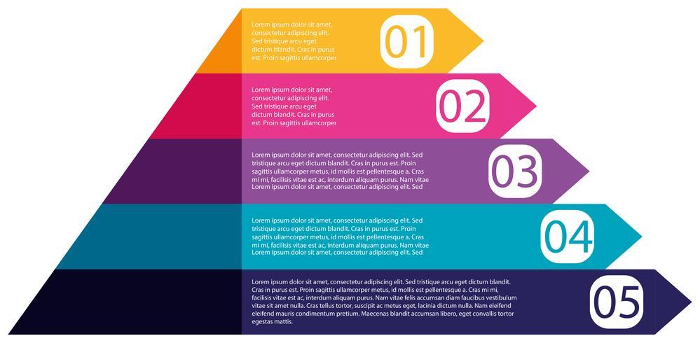 Diagramma di infografica piramide colorata vettore