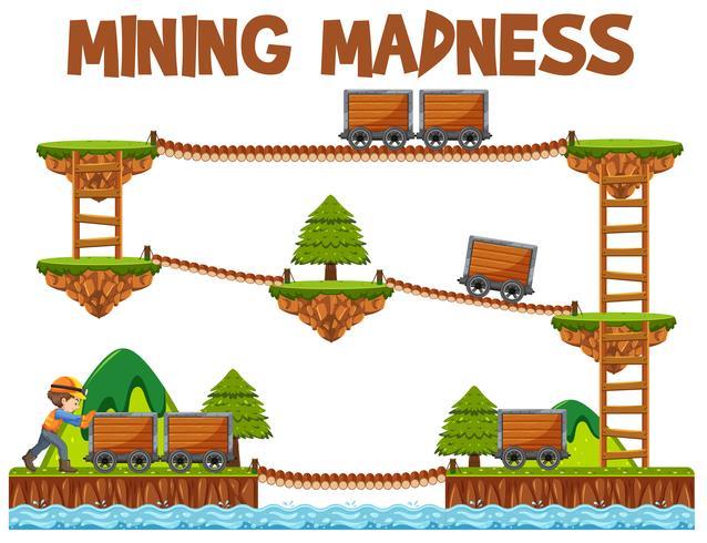 Elemento del gioco minerario vettore