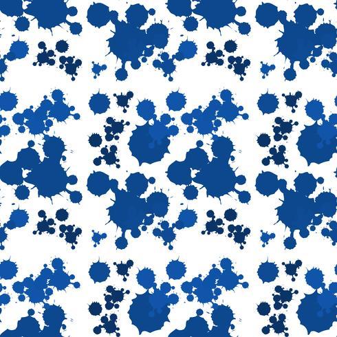 Progettazione senza cuciture del fondo con spruzzata blu vettore
