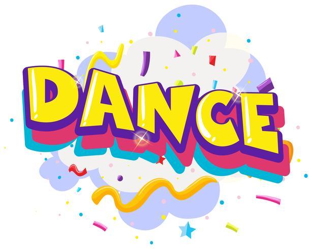 Testi di danza divertente colorati vettore
