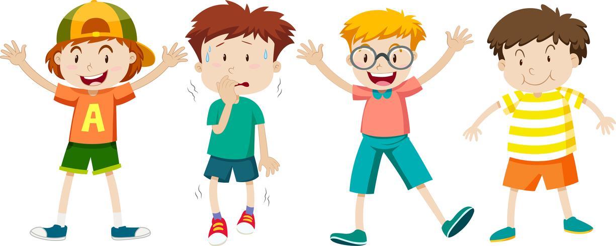 Un insieme di espressioni per bambini vettore