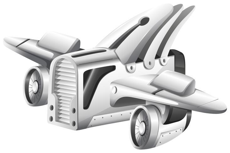 Robot volante con le ali vettore