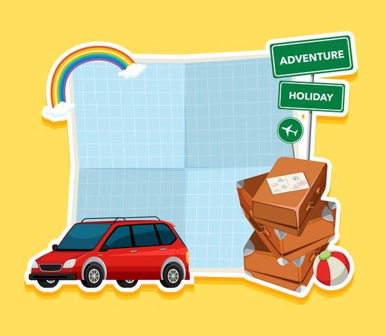 Modello di carta bianca di vacanza vettore