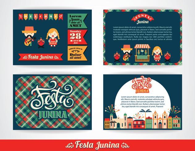 Festa latinoamericana, la festa di giugno del Brasile. vettore