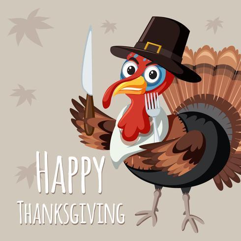 Turchia sul modello di ringraziamento vettore