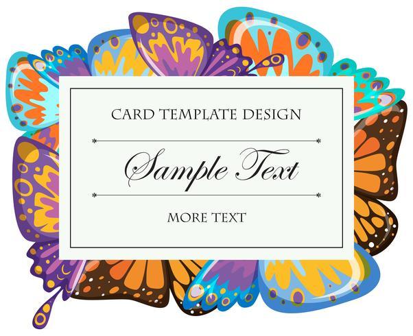 Modello di carta con ali di farfalla vettore