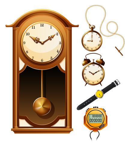 Design diverso dell'orologio vettore