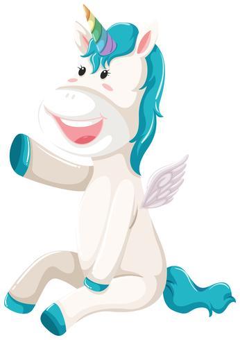 Un felice personaggio dell'unicorno vettore