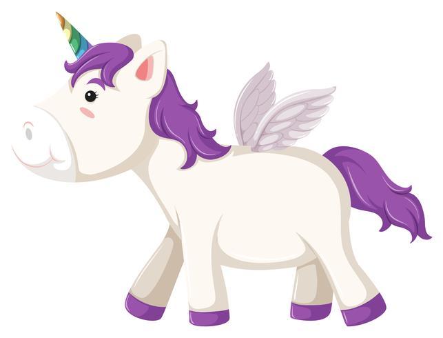 Un lato del carattere dell'unicorno vettore