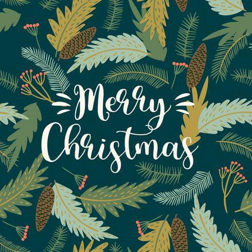 Illustrazione di Natale e felice anno nuovo. Stile retrò alla moda. vettore