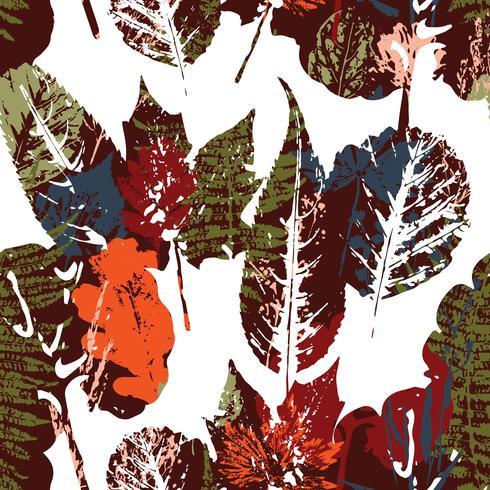 Modello senza cuciture di autunno astratto con foglie. vettore