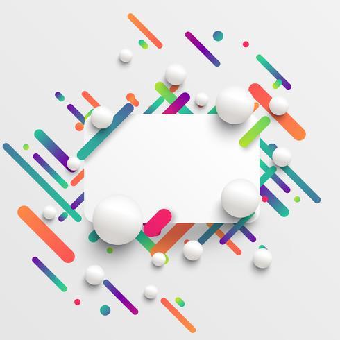Modello dinamico e colorato per la pubblicità, illustrazione vettoriale