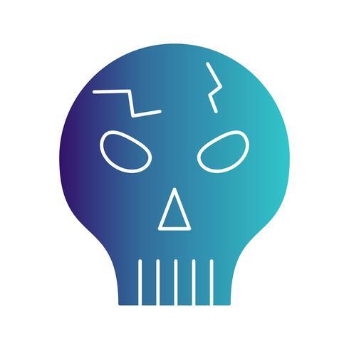 icona del cranio vettoriale