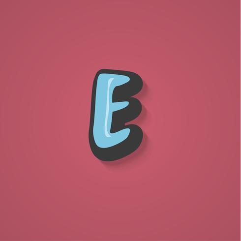 Personaggio comico da un fontset, illustrazione vettoriale