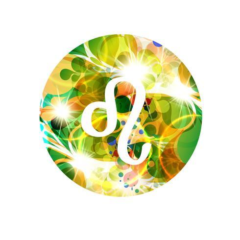 Un segno zodiacale di Leo, illustrazione vettoriale