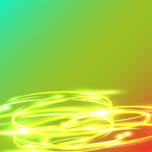 Cerchi confusi al neon su una priorità bassa blu, illustrazione di vettore. vettore