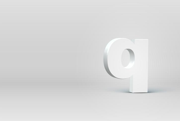 Elevato carattere di carattere 3D dettagliato, illustrazione vettoriale