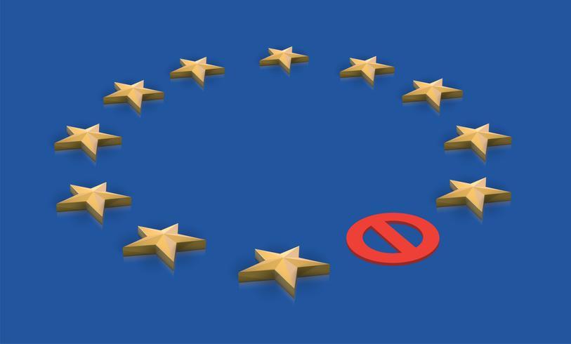 Illustrazione per BREXIT - Gran Bretagna che lascia l'UE, vettore