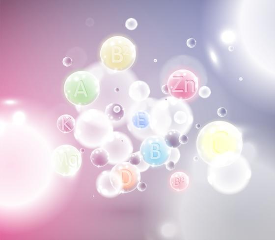 Molecole colorate, illustrazione vettoriale