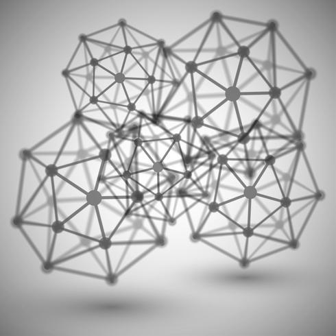 Molecola astratta, vettoriale