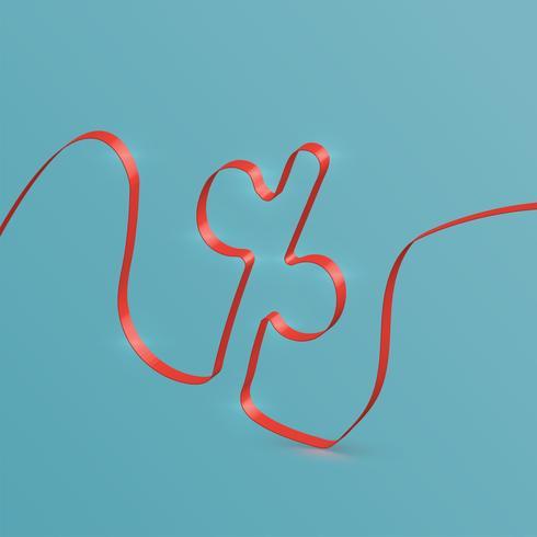 Carattere realistico del nastro da un composto, vettore