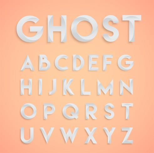 Carattere di disegno bianco 'Ghost', vettore