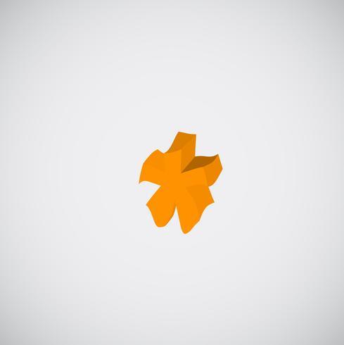 Carattere di fusione arancione, vettore
