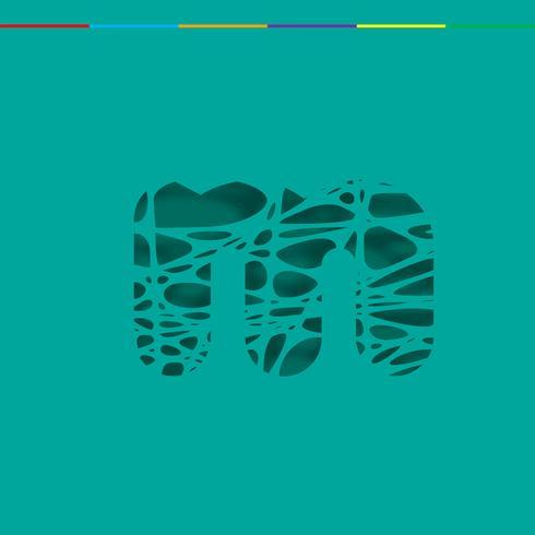 Carattere del ritaglio da un fontset, vettore