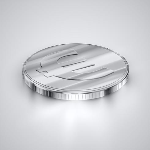 Moneta realistica, illustrazione vettoriale
