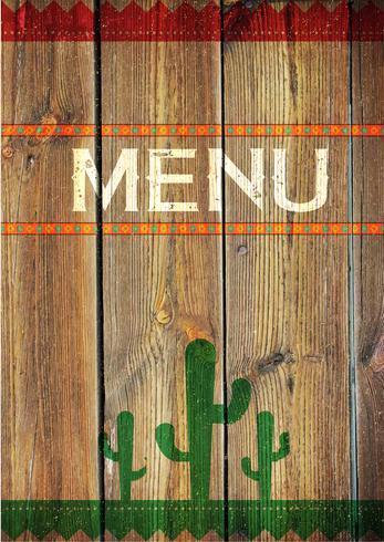 Menu messicano, illustrazione vettoriale
