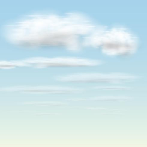 Nuvole realistiche, vettoriale